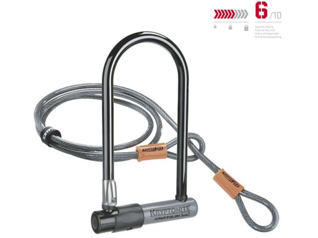 Kryptonite KryptoLok Standard Bike Lock + Kryptoflex